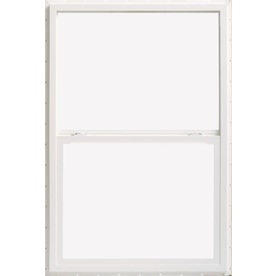 ThermaStar by Pella 10 Series Vinyl Double Pane Annealed New Construction Single Hung Window (Rough Opening: 52.625-in x 50.125-in; Actual: 52.125-in x 49.625-in)