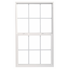 ThermaStar by Pella 10 Series Vinyl Double Pane Annealed New Construction Single Hung Window (Rough Opening: 24-in x 60-in; Actual: 23.5-in x 59.5-in)