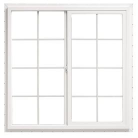 ThermaStar by Pella 10 Series Left-Operable Vinyl Double Pane Annealed New Construction Egress Sliding Window (Rough Opening: 48-in x 48-in; Actual: 47.5-in x 47.5-in)