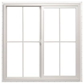 ThermaStar by Pella 36-in x 24-in 10 Series Left-Operable Vinyl Double Pane New Construction Sliding Window