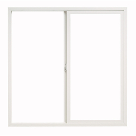 ThermaStar by Pella 48-in x 48-in 10 Series Left-Operable Vinyl Double Pane New Construction Sliding Window