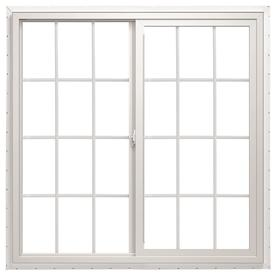 ThermaStar by Pella 72-in x 48-in 10 Series Left-Operable Vinyl Double Pane New Construction Sliding Window