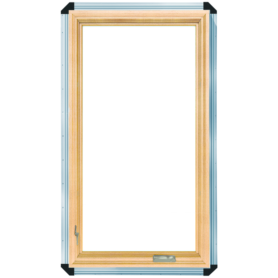 Shop pella 29 3 4 in x 47 3 4 in 450 series 1 lite wood for Pella casement window screens