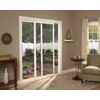 ThermaStar by Pella 25 Series 70.75-in Blinds Between the Glass White Vinyl Sliding Patio Door