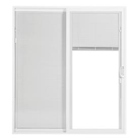 ThermaStar by Pella 25 Series 70.75-in Blinds Between the Glass White Vinyl Sliding Patio Door