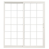 ThermaStar by Pella 10 Series 58.75-in Dual-Pane Grilles Between The Glass Vinyl Sliding Patio Door