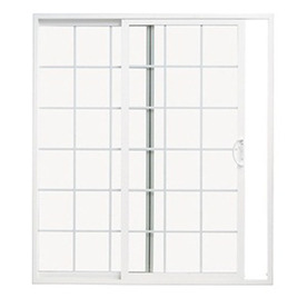 ThermaStar by Pella 10 Series 59.5-in Dual-Pane Grilles Between The Glass Vinyl Sliding Patio Door