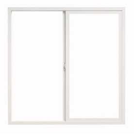 ThermaStar by Pella 24-in x 24-in 10 Series Left-Operable Vinyl Double Pane New Construction Sliding Window