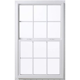 ThermaStar by Pella 10 Series Vinyl Double Pane Annealed New Construction Single Hung Window (Rough Opening: 36-in x 50-in; Actual: 35.5-in x 49.5-in)