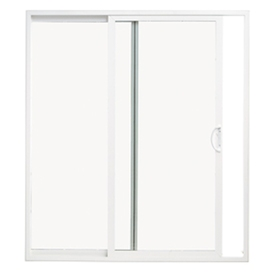 ThermaStar by Pella 58-3/4-in Dual-Pane Clear Vinyl Sliding  Patio Door