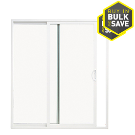 ThermaStar by Pella 71-1/2-in Dual-Pane Clear Vinyl Sliding  Patio Door