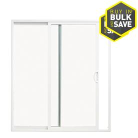 ThermaStar by Pella 10 Series 71.5-in Clear Glass White Vinyl Sliding Patio Door