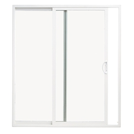 ThermaStar by Pella 59-1/2-in Dual-Pane Clear Vinyl Sliding  Patio Door