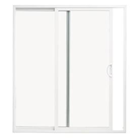 ThermaStar by Pella 10 Series 59.5-in Clear Glass White Vinyl Sliding Patio Door