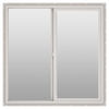 ThermaStar by Pella 10 Series Left-Operable Vinyl Double Pane Annealed New Construction Sliding Window (Rough Opening: 48-in x 12-in; Actual: 47.5-in x 11.5-in)