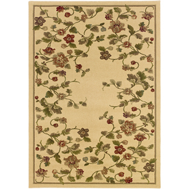 Shop Sedia Home Remy 5-ft 3-in x 7-ft 6-in Beige Floral Area Rug at ...