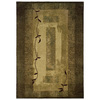 allen + roth Holder 112-in x 142-in Rectangular Green Border Area Rug