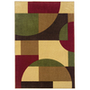 Oriental Weavers of America Hennessy 5-ft 3-in x 7-ft 6-in Rectangular Green Geometric Area Rug