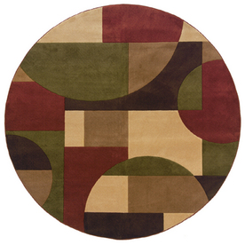 Oriental Weavers of America Hennessy Round Multicolor Geometric Tufted Area Rug (Common: 8-ft x 8-ft; Actual: 7.83-ft x 7.83-ft)