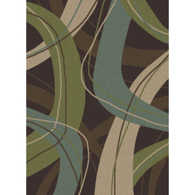 Oriental Weavers of America 5-ft 3-in x 7-ft 6-in Boomerang Rectangular Chocolate Area Rug