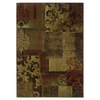 allen + roth Bodega 46-in x 65-in Rectangular Red/Pink Floral Area Rug
