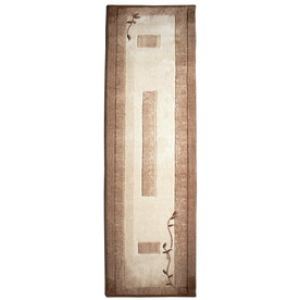 allen + roth Holder Neutral Rectangular Indoor Tufted Nature Runner (Common: 2 x 8; Actual: 26-in W x 90-in L)