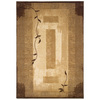 allen + roth Holder 63-in x 90-in Rectangular Cream/Beige/Almond Border Area Rug