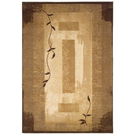 allen + roth Holder Neutral Rectangular Indoor Tufted Nature Area Rug (Common: 4 x 6; Actual: 46-in W x 71-in L)