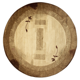 allen + roth Holder Neutral Round Indoor Tufted Nature Area Rug (Common: 8 x 8; Actual: 94-in W x 94-in L x 7.83-ft Dia)