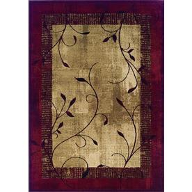 allen + roth Tinsley 46-in x 65-in Rectangular Red/Pink Border Area Rug
