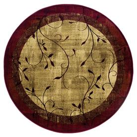 allen + roth Tinsley Red Round Indoor Woven Nature Area Rug (Common: 8 x 8; Actual: 92-in W x 92-in L x 7.67-ft Dia)