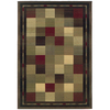 Oriental Weavers of America Sonoma 46-in x 65-in Rectangular Green Block Area Rug