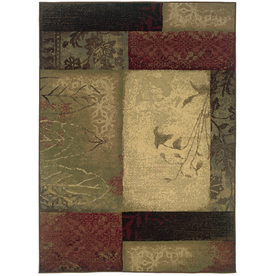 Oriental Weavers of America Bedford 5-ft 3-in x 7-ft 6-in Rectangular Green Transitional Area Rug