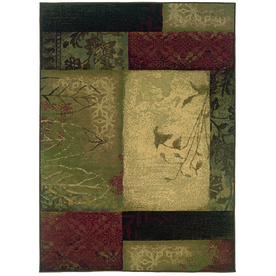 Oriental Weavers of America Bedford 7-ft 8-in x 10-ft 10-in Rectangular Green Transitional Area Rug