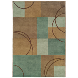 Oriental Weavers of America Luna Blue Rectangular Indoor Tufted Throw Rug (Common: 2 x 3; Actual: 26-in W x 39-in L)