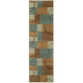 Oriental Weavers of America Luna Blue Rectangular Indoor Tufted Runner (Common: 2 x 8; Actual: 26-in W x 90-in L)