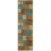 Oriental Weavers of America Luna 26-in W x 7-ft 6-in L Blue Runner