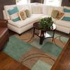 Oriental Weavers of America Luna Blue Rectangular Indoor Tufted Area Rug (Common: 8 x 10; Actual: 94-in W x 121-in L)