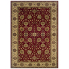 Sedia Home Helena 60-in x 90-in Rectangular Red/Pink Floral Area Rug