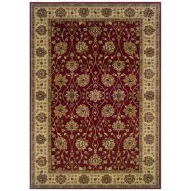 Sedia Home Helena Red Rectangular Indoor Woven Oriental Area Rug (Common: 8 x 10; Actual: 98-in W x 120-in L)