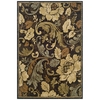 Sedia Home Sophie 38-in x 65-in Rectangular Brown/Tan Floral Area Rug