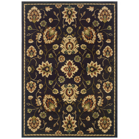 Sedia Home Audrey Rectangular Brown Floral Area Rug (Common: 4-ft x 6-ft; Actual: 38-in x 5-ft 5-in)