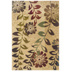 Sedia Home Darla Rectangular Cream Floral Area Rug (Common: 5-ft x 8-ft; Actual: 5-ft x 7-ft 6-in)