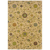 Sedia Home Khloe 60-in x 90-in Rectangular Cream/Beige/Almond Floral Area Rug