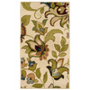 Oriental Weavers of America Isabella 22-in x 39-in Rectangular White Floral Accent Rug