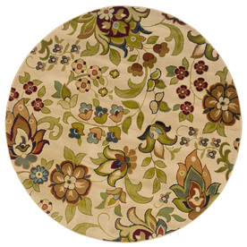 Oriental Weavers of America Isabella Ivory Round Indoor Woven Nature Area Rug (Common: 8 x 8; Actual: 92-in W x 92-in L x 7.67-ft Dia)