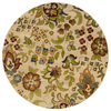 Oriental Weavers of America Isabella 92-in x 92-in Round Cream/Beige/Almond Floral Area Rug