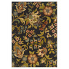 Oriental Weavers of America Isabella 63-in x 90-in Rectangular Black Floral Area Rug