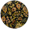 Oriental Weavers of America Isabella 92-in x 92-in Round Black Floral Area Rug