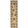 Oriental Weavers of America Addison 22-in W x 7-ft 6-in L Cream Runner